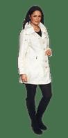 Womens Luxury Shot Silk Short Off-White Coat db294